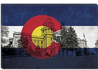 iCanvas Colorado Flag, State Capitol Graphic Art on Canvas; 40'' H x 60'' W x 1.5'' D