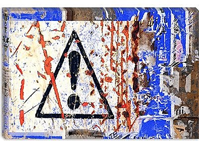 iCanvas 'Point D'Exclamation' by Luz Graphics Graphic Art on Canvas; 18'' H x 26'' W x 1.5'' D
