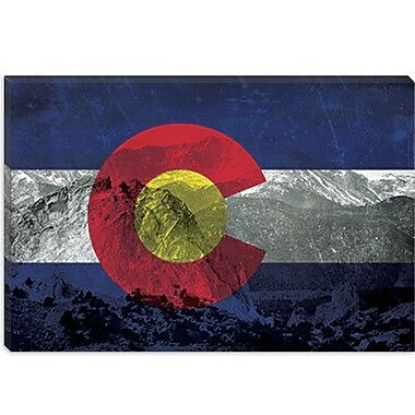 iCanvas Colorago Flag, Pikes Peak Graphic Art on Canvas; 26'' H x 40'' W x 0.75'' D