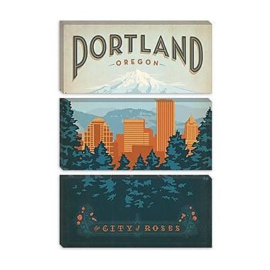 iCanvas ''Portland, Oregon'' by Anderson Design Group Vintage Advertisement on Canvas