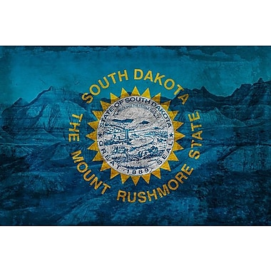 iCanvas Flags South Dakota Badlands National Park Graphic Art on Wrapped Canvas