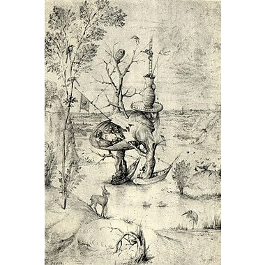 iCanvas 'The Man Tree' by Hieronymus Bosch Painting Print on Canvas; 18'' H x 12'' W x 0.75'' D