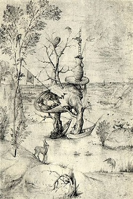 iCanvas 'The Man Tree' by Hieronymus Bosch Painting Print on Canvas; 18'' H x 12'' W x 1.5'' D
