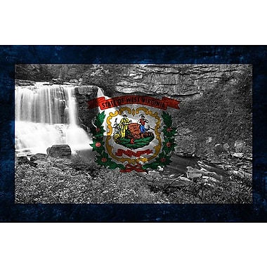 iCanvas Flags West Virginia Blackwater-Falls Graphic Art on Canvas; 26'' H x 40'' W x 1.5'' D