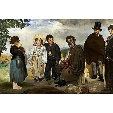 iCanvas 'The Old Musician' by Edouard Manet Painting Print on Canvas; 8'' H x 12'' W x 0.75'' D