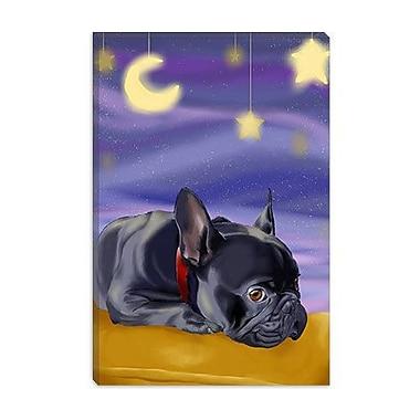 iCanvas 'French Sleep' by Brian Rubenacker Painting Print on Canvas; 26'' H x 18'' W x 0.75'' D
