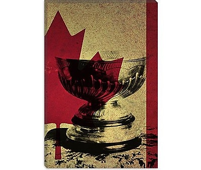 iCanvas Canada Hockey, Stanley Cup Graphic Art on Canvas; 26'' H x 18'' W x 0.75'' D