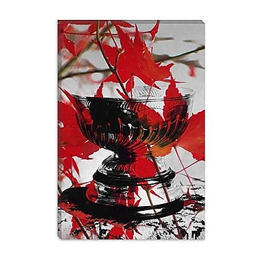 iCanvas Canada Hockey, Stanley Cup #2 Graphic Art on Canvas; 40'' H x 26'' W x 0.75'' D