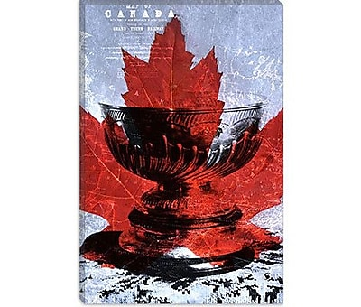 iCanvas Canada Hockey, Stanley Cup #3 Graphic Art on Canvas; 26'' H x 18'' W x 0.75'' D