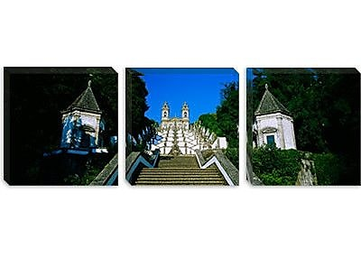 iCanvas Panoramic 'Steps of the Five Senses, Braga, Portugal' Photographic Print on Canvas