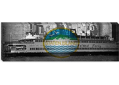 iCanvas Flags Staten Island Ferry Panoramic Graphic Art on Canvas; 16'' H x 48'' W x 0.75'' D