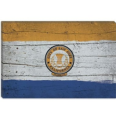 iCanvas Flags San Jose Planks Graphic Art on Canvas; 26'' H x 40'' W x 1.5'' D
