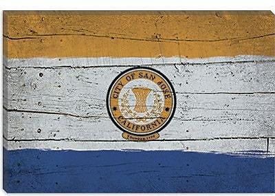 iCanvas Flags San Jose Planks Graphic Art on Canvas; 18'' H x 26'' W x 0.75'' D