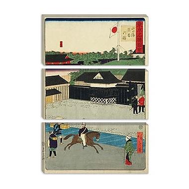 iCanvas ''Takanawa Igirisu Kan'' by Hiroshige lll Graphic Art on Wrapped Canvas