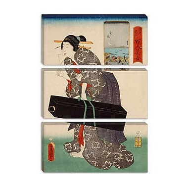 iCanvas Japanese Art 'Takanawa Japanese' by Kunisada (Toyokuni) Painting Print on Wrapped Canvas