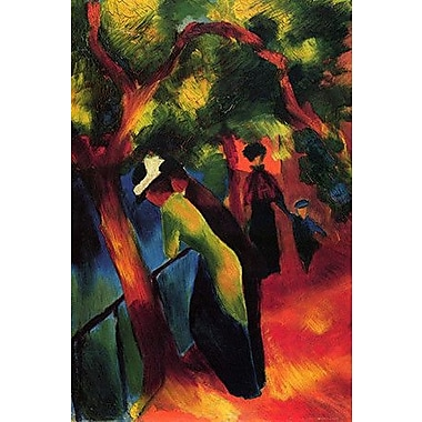 iCanvas 'Sunny Way' by August Macke Painting Print on Wrapped Canvas; 40'' H x 26'' W x 0.75'' D