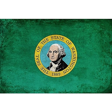 iCanvas Flags Washington Grunge Graphic Art on Wrapped Canvas; 26'' H x 40'' W x 0.75'' D