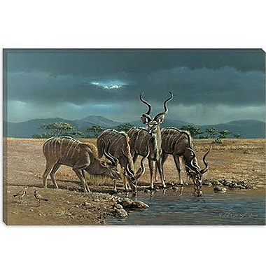 iCanvas 'Greater Kudus' by Harro Maass Painting Print on Canvas; 8'' H x 12'' W x 0.75'' D