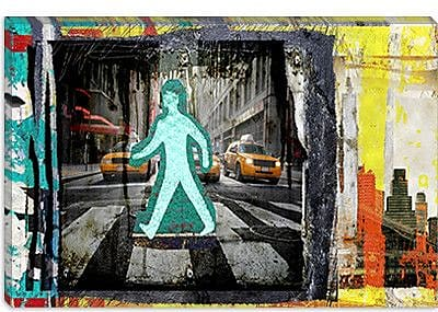 iCanvas ''Man NY'' by Luz Graphics Graphic Art on Canvas; 26'' H x 40'' W x 1.5'' D