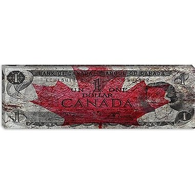 iCanvas Canada One Dollar Panoramic Graphic Art on Canvas; 12'' H x 36'' W x 0.75'' D