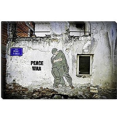 iCanvas ''Peace War'' by Luz Graphics Graphic Art on Canvas; 12'' H x 18'' W x 1.5'' D