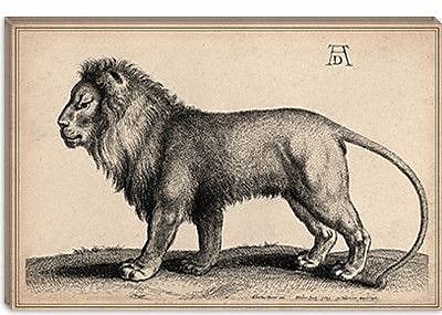 iCanvas 'A Lion Standing' by Wenceslaus Hollar Painting Print on Canvas; 12'' H x 18'' W x 1.5'' D