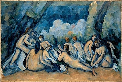 iCanvas 'The Bathers' by Paul Cezanne Painting Print on Wrapped Canvas; 26'' H x 40'' W x 1.5'' D