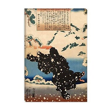 iCanvas Japanese 'Black Bear' by Utagawa Kuniyoshi Graphic Art on Canvas; 60'' H x 40'' W x 1.5'' D
