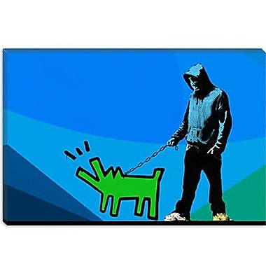 iCanvas Choose Your Weapon Keith Haring Dog lll Graphic Art on Canvas; 8'' H x 12'' W x 0.75'' D