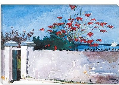 iCanvas 'A Wall, Nassau 1898' by Winslow Homer Painting Print on Canvas; 18'' H x 26'' W x 1.5'' D