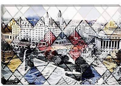 iCanvas Canada Ottawa Centre Ville Graphic Art on Canvas; 40'' H x 60'' W x 1.5'' D