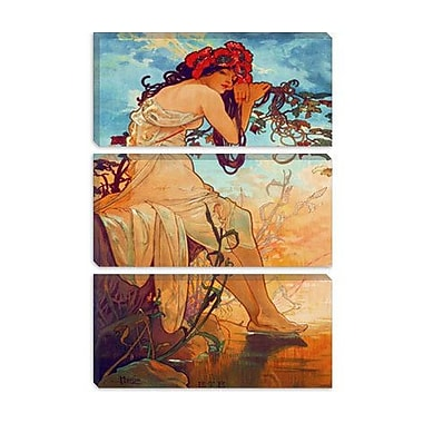iCanvas 'Summer' by Alphonse Mucha Painting Print on Wrapped Canvas; 60'' H x 40'' W x 1.5'' D