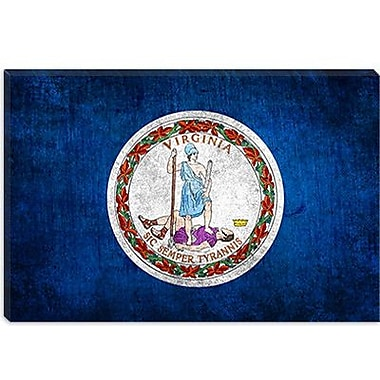 iCanvas Flags Virginia Graphic Art on Canvas; 8'' H x 12'' W x 0.75'' D