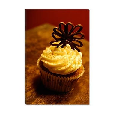 iCanvas Food and Cuisine Chocolate Cupcake Photographic Print on Canvas; 40'' H x 26'' W x 0.75'' D