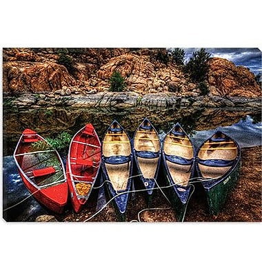 iCanvas 'Canoe Color' by Bob Larson Photographic Print on Canvas; 18'' H x 26'' W x 1.5'' D