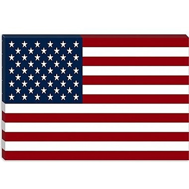 iCanvas Flags U.S.A. Regular Graphic Art on Canvas; 8'' H x 12'' W x 0.75'' D