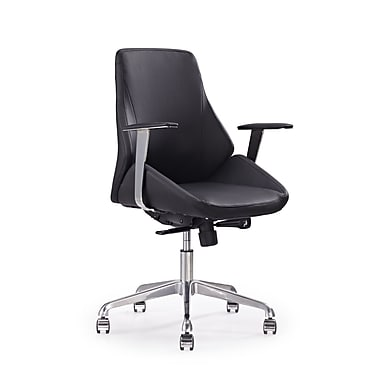 Whiteline Imports Natasha Mid-Back Desk Chair; Black