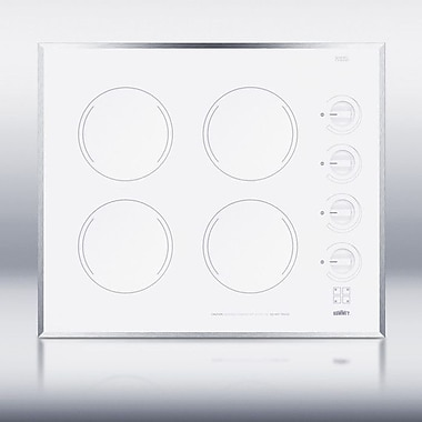 Summit Appliance Summit 24'' ElectricRadiant Cooktop w/ 4 Burners; White