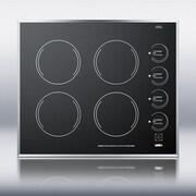 Summit Appliance Summit 24'' ElectricRadiant Cooktop w/ 4 Burners; Black