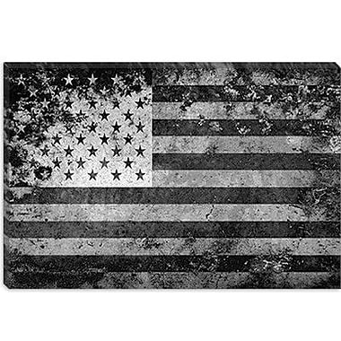 iCanvas Flags U.S.A. Grunge Graphic Art on Canvas; 26'' H x 40'' W x 1.5'' D