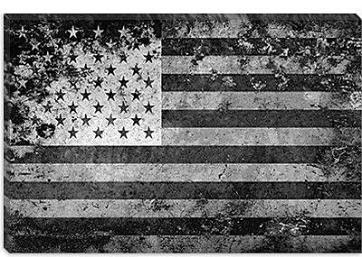 iCanvas Flags U.S.A. Grunge Graphic Art on Canvas; 12'' H x 18'' W x 0.75'' D