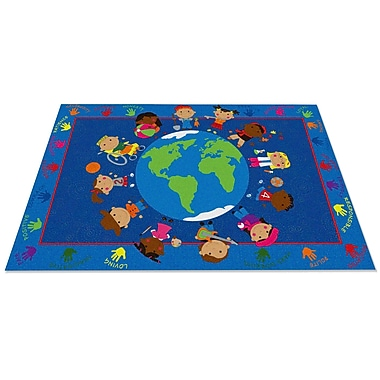 Kid Carpet World Character Classroom Kids Area Rug; 6' x 8'6''