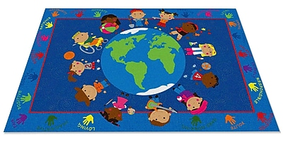 Kid Carpet World Character Classroom Kids Area Rug; 7'6'' x 12'