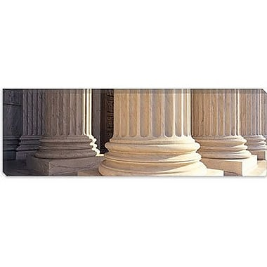 iCanvas Columns Achitecture Photographic Print on Canvas in Color; 12'' H x 36'' W x 1.5'' D
