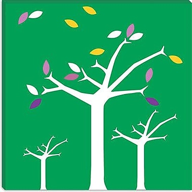 iCanvas Autumn Trees Graphic Art on Wrapped Canvas in Green; 12'' H x 12'' W x 0.75'' D