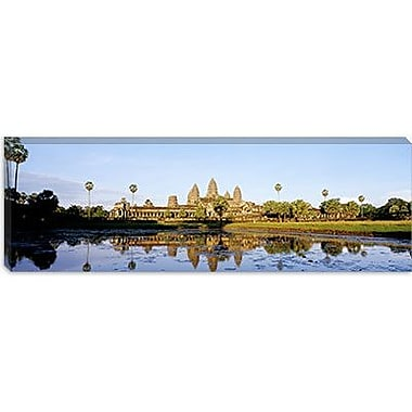 iCanvas Panoramic Angkor Wat, Cambodia Photographic Print on Canvas; 12'' H x 36'' W x 0.75'' D