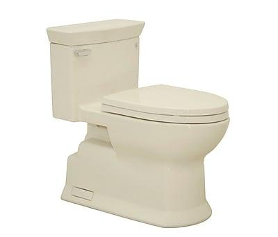Toto Soir e Eco 1.28 GPF Elongated One-Piece Toilet; Bone