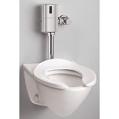 Toto Commercial Wall Mount Flushometer 1.28 GPF Elongated Toilet Bowl; Bone