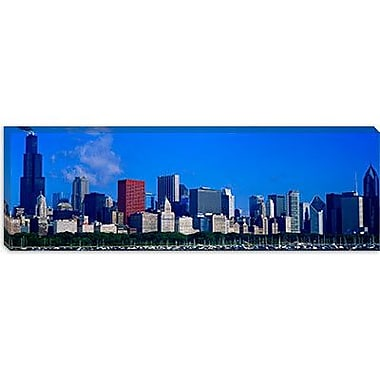 iCanvas Panoramic Skyscrapers in Chicago, Illinois Photographic Print on Canvas