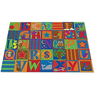 Kid Carpet Letter Seating Kids Rug; 6' x 8'6''